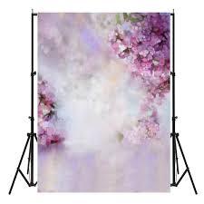 Purple Flowers Backgrounds 5x7ft Vinyl Dreamlike Purple Flowers Photography Backgrounds Photo Shoot Backdrop