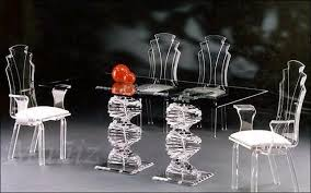 acrylic furniture dining table sculptured acrylic acrilic furniture