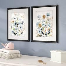 holland spring mix 2 piece framed acrylic painting print set on botanical wall art set of 2 with floral botanical wall art joss main