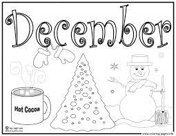 Small Picture December Coloring Pages akmame