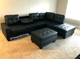 black leather sectional ashley furniture couch