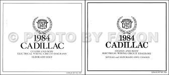 1984 1985 cadillac repair shop manual and body manual on cd rom 1984 cadillac eldorado gas foldout wiring diagrams original