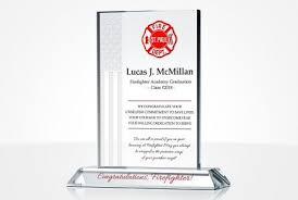 fire academy graduation gift plaque