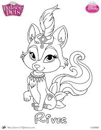 Small Picture Free Princess Palace Pets Coloring Page of River SKGaleana