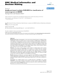 Adaboost Based Multiple Svm Rfe For Classification Of Mammograms In