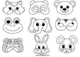 Maschere Di Animali Da Colorare Tuttodisegnicom Manualidades