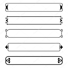 simple frame border. Set Of Simple Black Banners Border Frame \u2014 Stock Vector E