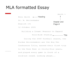 Writing An Essay In Mla Format Mla Format Essay Writing Owl Format Example Paper Title Format Essay
