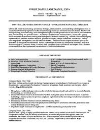 Custom Resume Templates Custom Financial Controller Resume Template Premium Resume Samples Example