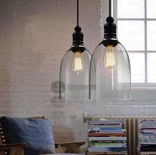 industrial lighting pendants. Modern Crystal Bell Glass Pendant Lights Vintage Industrial Lighting Edison Bulb Droplight Home Luminaire Pendants E