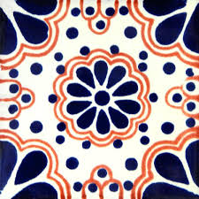 blue lace 4 mexican ceramic tile are handmade in mexico mexican ceramic tile mexican ceramic tiles uk