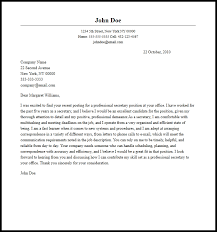 Professional Secretary Cover Letter Sample Writing Guide