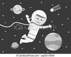浮く 宇宙飛行士 スペース