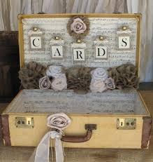 Vintage Suitcase Wedding Card