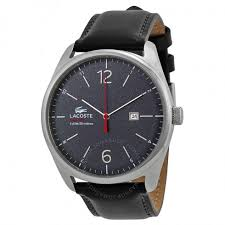 lacoste austin black dial black leather strap men s watch 2010694 lacoste austin black dial black leather strap men s watch 2010694
