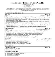 Canada Resume Template Resume Cashier Sample Wikirian Com