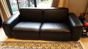 stylish ikea faux leather sofas x 2