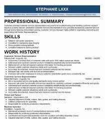 simple customer service representative resume example .