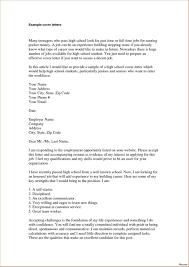 Application Cover Letter Sample Idea For Part Time Resume Basic