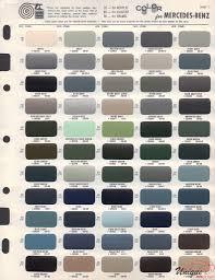 Mercedes Colour Chart 2017 Mercedes Benz Paint Chart Color Reference