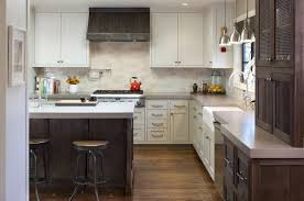 view in gallery two tone kitchen cabinets modern