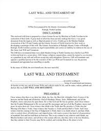 Last Will And Testement Form Testament Form Document Template Ideas Sample U Design Sample 20