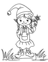 Christmas Elf Coloring Page Christmas Ideas Girl Elf Christmas