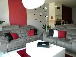 Deco Table Gris Et Rouge Salon Noir Et Blanc Et Gris Déco Salon Rouge Deco  Gris