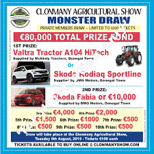 Prize Draw Tickets Prize Draw Ticket 2019 Clonmany Agricultural Show