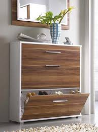 white shoe cabinet furniture. Simple Modern Hallway Storage Idea For Shoes Cabinets - White And Walnut Combo Shoe Cabinet Furniture S
