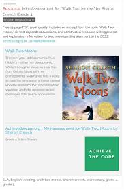best walk two moons ideas two by two list of mini assessment for walk two moons by sharon creech grade 4
