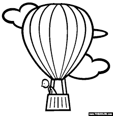 Small Picture The Hot Air Balloon Coloring Page Free The Hot Air Balloon
