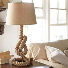 Want to make a coiled rope lamp base? Thread thin wire through the rope to