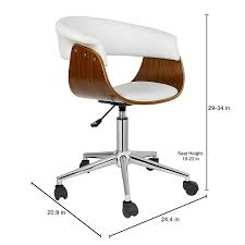 com porthos home height adjule liam office chair stylish designer executive office furniture with thick padding for comfort easy clean walnut