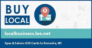 spas salons gift cards in kenosha wi