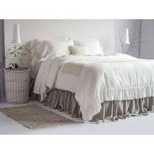 luxury french vintage ruffled linen duvet cover set 100 european 100