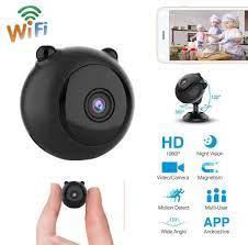 Satın Al Mini Kablosuz Kamera Akıllı WiFi HD 1080P Ev Güvenlik P2P Kamera  Gece Görüş Küçük Kamera Uzaktan TF Kart Gizli Monitör, TL171.97