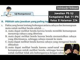 Jual buku mandiri erlangga bahasa indonesia kelas 9 smp kunci. Jawaban Pg Uji Kompetensi Bab 11 Ipa Kelas 8 Halaman 224 Cahaya Dan Alat Optik Youtube