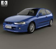 Mitsubishi Colt 3-door hatchback 1998 3D model - Hum3D