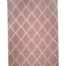 light pink trellis rug