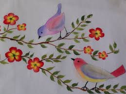 Fabric Painting Designs Of Birds Fabric Painting Flower Fabric Painting Designs For