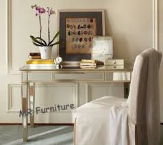 mirrored office furniture. China Home Mirrored Writing Desk , Champagne Gold Trimming Office Supplier Furniture