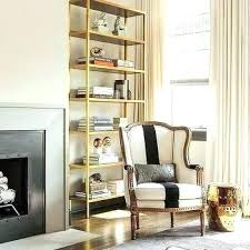 glass shelves for living room bookcase black and gold with striped chair shelf bookshelves shelving units glass shelves