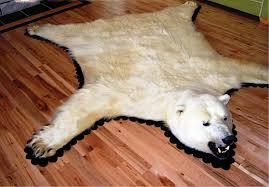 polar bear skin rug
