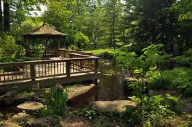 the large perennial garden includes a nice sized shaded area with hostas and other woodland plants toledo botanical garden