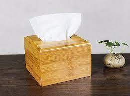 Natural bamboo <b>tissue</b> box holder container bamboo <b>storage</b> choice ...