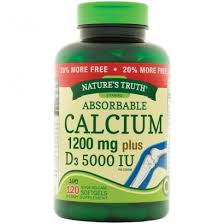 Nature's Truth <b>Absorbable Calcium</b> 1200 mg plus D3 5000 IU, 120 ...