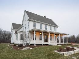 creative ideas modern farmhouse plans country porch home two story traditional house one shaped addition retro oak style floor plan classic new design