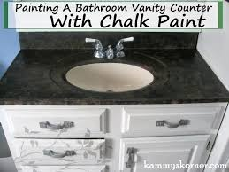 marvelous kammy s korner painting a porcelain vanity countertop new and on bathroom
