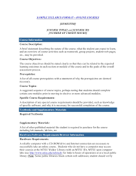 weekly syllabus template course syllabus template